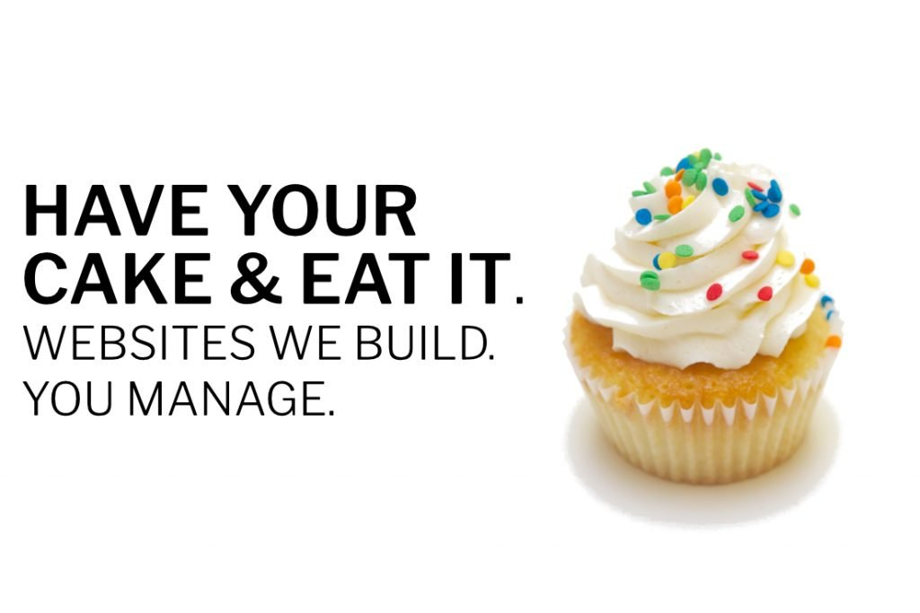 Have your cake & eat it. Websites we build. You manage.